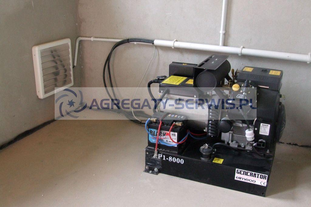 AP1 8000 Agregat Pradotworczy Jednofazowy Dom Jednorodzinny zasilanie awaryjne