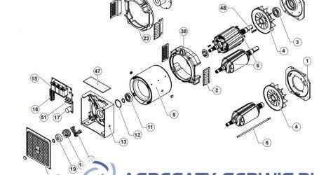 GT2MS Części prądnicy
