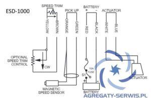 ESD-1000 Regulator ESD1000 Rysunek Schemat