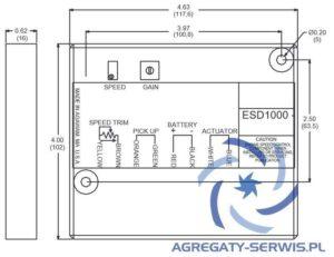 ESD-1000 Regulator ESD1000 Rysunek Wymiary